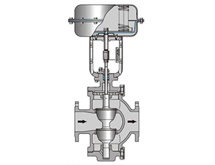Two ways double seated globe control valve