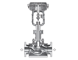 Top Guided Single Seated Control Valves with Steam Jacket