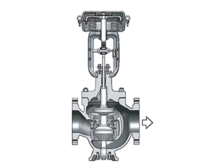 Image result for top-bottom guided control valve